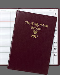 Daily Mass Record Book Liturgical Desk Calendar