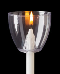 Plastic Wind Protectors for Candlelight Service Candles