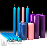 Cathedral Candle Advent Candles