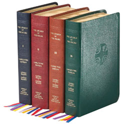 Large Type Leather Liturgy of the Hours: Set of 4 Style 709/13