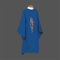 Dalmatic - Alpha Omega, Cross and Wheat (Beau Veste)
