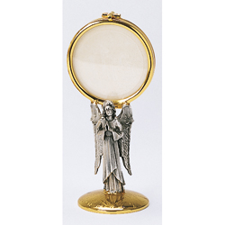 Monstrance with Angel on stem