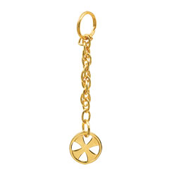 Tabernacle Key Chain, Gold Plated (gift boxed)