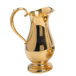 Ewer, 22 oz, Gold Plated