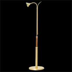 Candle Lighter Stand, Satin Brass