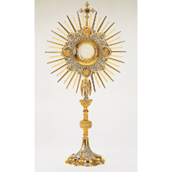 Monstrance with medallions and blue stones