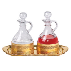 Processional Cruet Set, Gold Plated