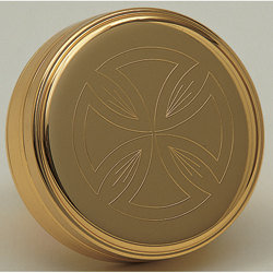 Host Box (Pyx), Gold Plated