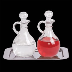 Cruet Set with Stainless Steel Tray