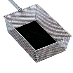 Collection Basket, Nickel, Telescoping Handle