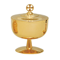 Ciborium, 100 Host Capacity, Gold Plated