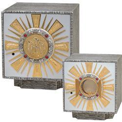 Tabernacle, Silver Plated with Gold Plated Rays