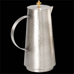 Flagon, Antique Silver, Hammered Finish