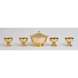 Communion Set, 5 Pieces, Gold Plated
