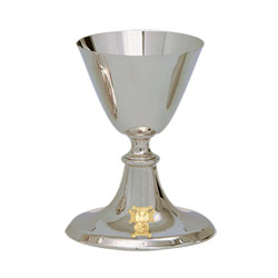 Chalice and Paten w/ K of C Emblem, Stainless Steel