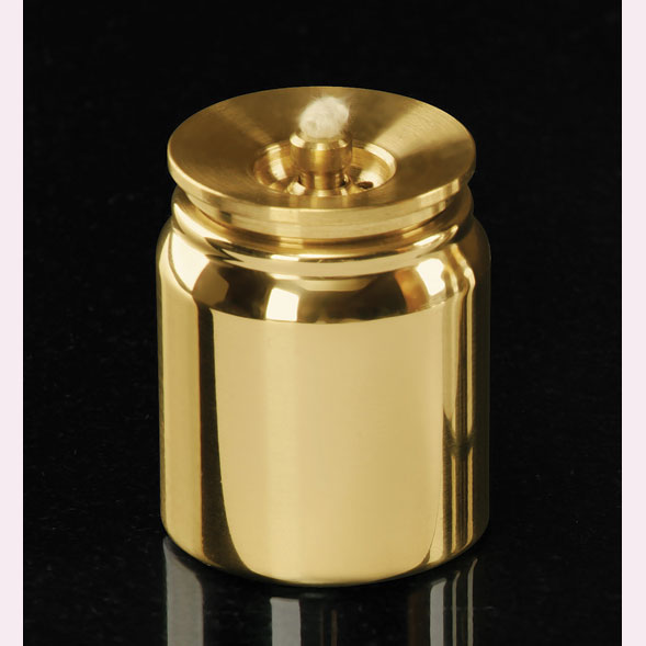 Lux Mundi Refillable Acolyte Container - Brass