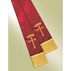 Empress Satin Pulpit Stole, red