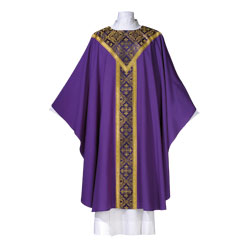 Gothic Chasuble | style 315 | Purple | Lightweight Wool