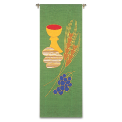Tapestry/Banner - Wheat, Grapes, Bread & Chalice