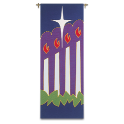 Tapestry/Banner - Advent Candles