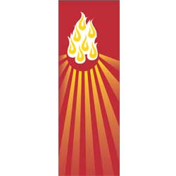 Inside Banner, large - Flames - Red
