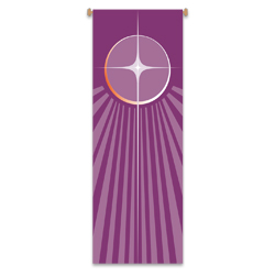 Inside Banner, large - Advent, Star - Purple