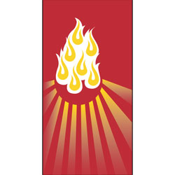 Inside Banner, small - Flames - Red, small