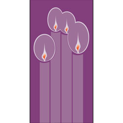Inside Banner, small - Advent Candles - Purple, small