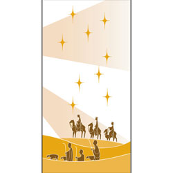Inside Banner, small - Wisemen - White/Gold, small