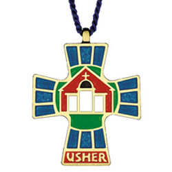 Usher Pendant with Blue Cord