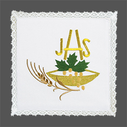 Embroidered Chalice Pall - Eucharistic IHS