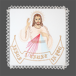 Embroidered Chalice Pall - The Divine Mercy