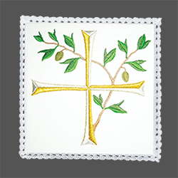 Embroidered Chalice Pall - Liturgical Cross