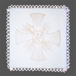 Embroidered Chalice Pall - Celtic Cross