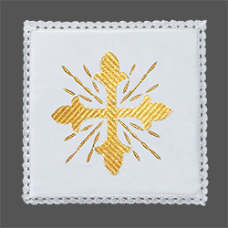 Embroidered Chalice Pall - Traditional Cross