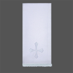 Embroidered Lavabo Towel - White Cross