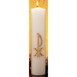 Christ Candle | Chi Rho Gold