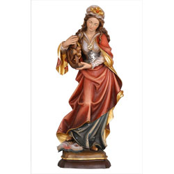 St. Katherine Woodcarved Statue