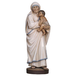 Mother Teresa of Calcutta Woodcarved Statue