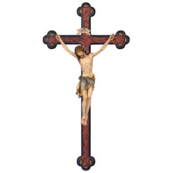 Woodcarved Crucifix, baroque