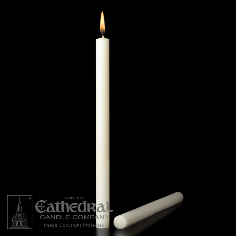 Altar Candle | 7/8 x 12 | Plain End | 51% Beeswax