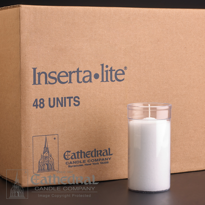 Inserta Lite Candle | 3 Day | Clear | case of 48