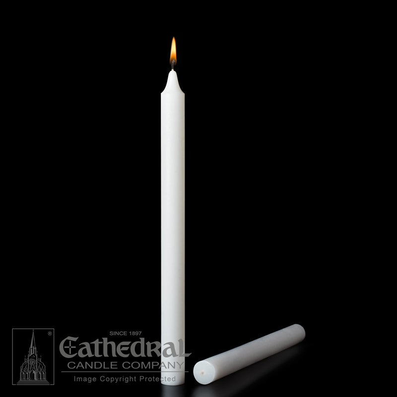Altar Candle | 7/8 x 12 | Plain End | Stearine