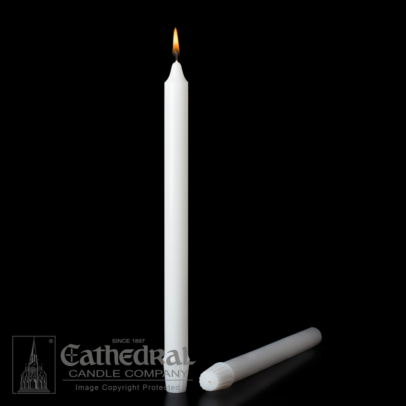 Altar Candle | 7/8 x 12 | Self Fitting End | Stearine