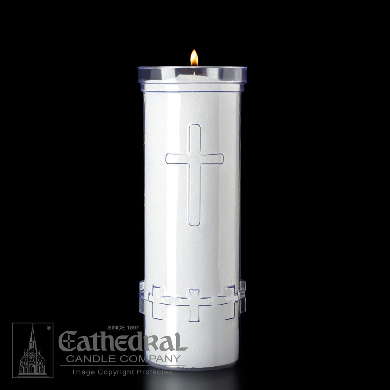7 Day Plastic Sanctuary Candle | (24 pcs. per case) | Divine Presence