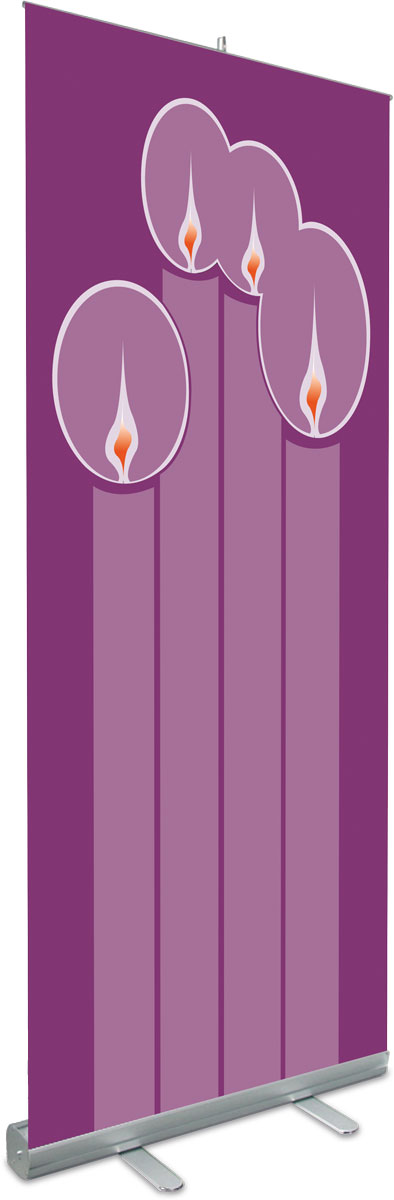 Advent Candles Roll Up Banner