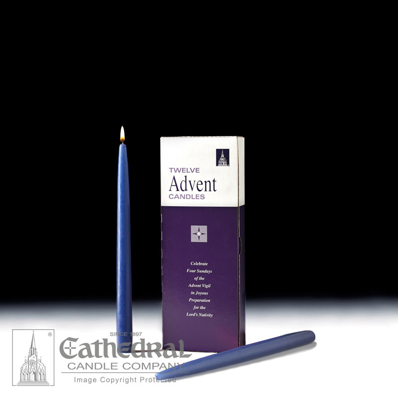 Advent Taper Candles |12 Blue