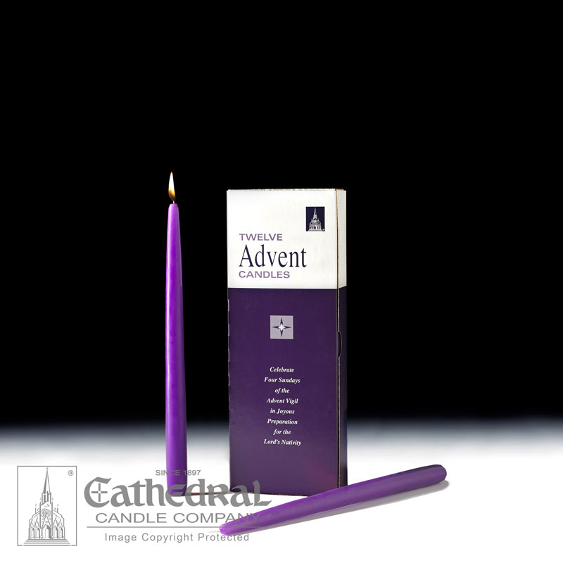Advent Taper Candles |12 Purple