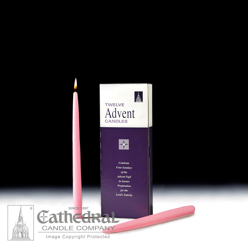 Advent Taper Candles |12 Rose