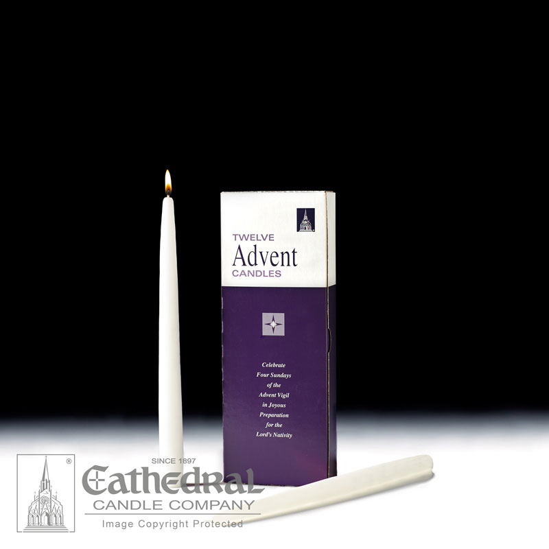 Advent Taper Candles |12 White